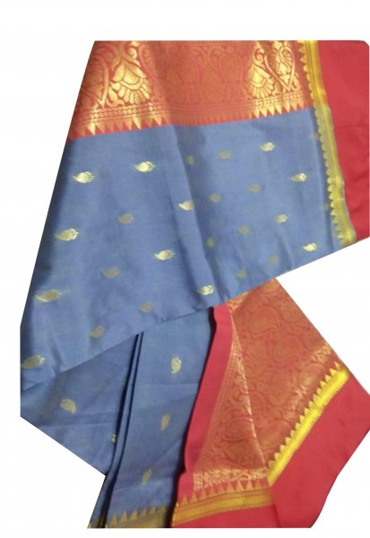 purple and red linen jamdani  saree