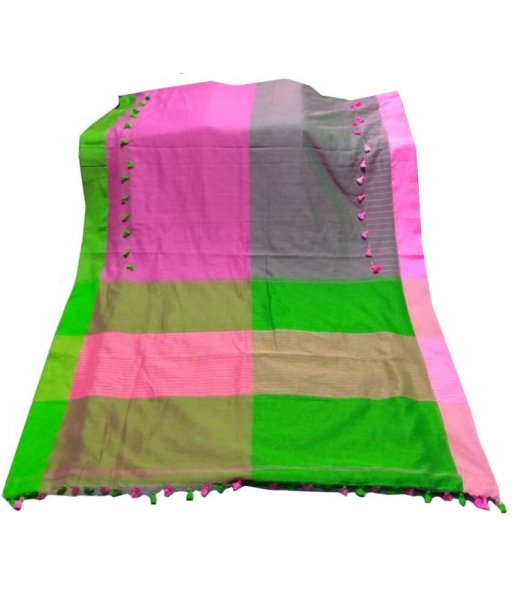Multi Colour Kathi Pum Pum Saree