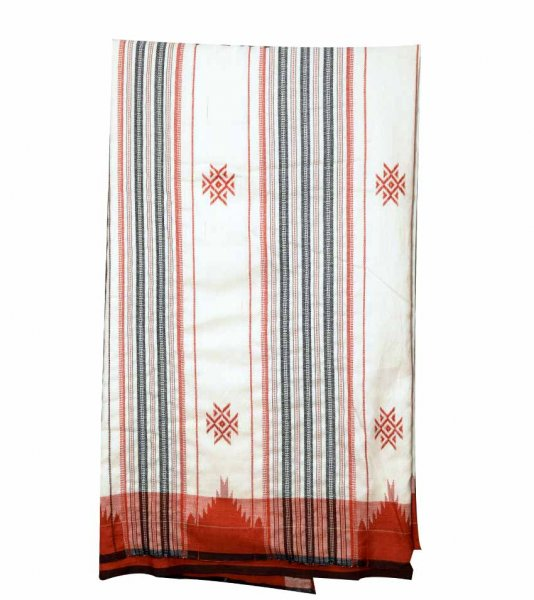 Kotpad Organic Dyed White Saree