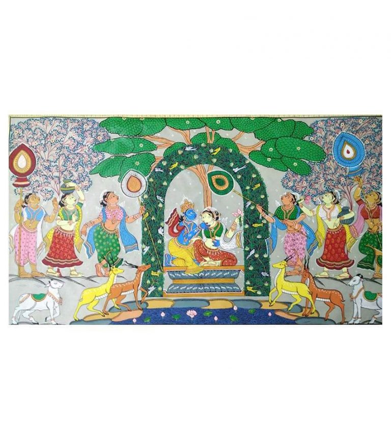 Kunjarasa Pattachitra of Lord Krishna