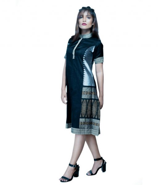 Ikat High Neck Kurta