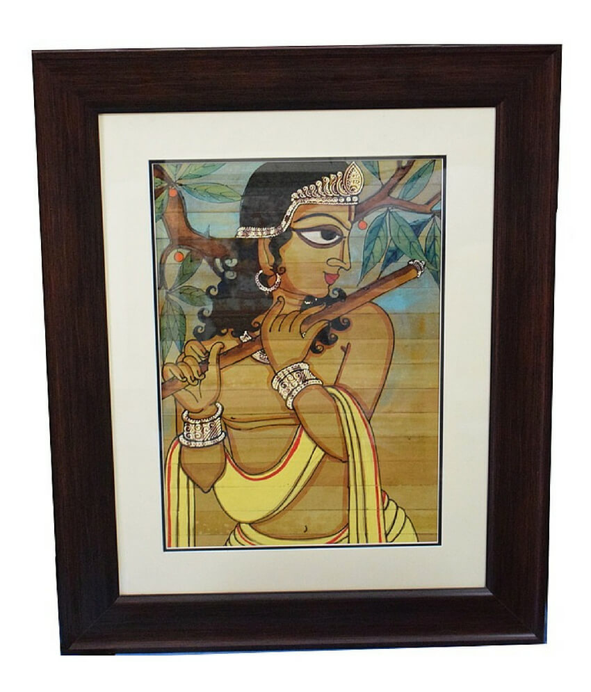 Lord Krishna pattachitra hand painting