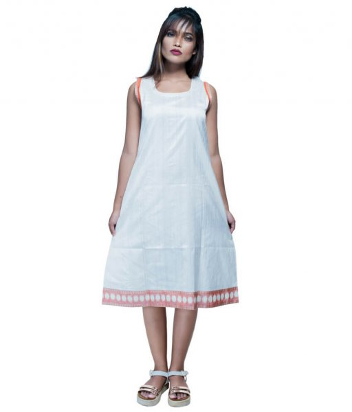 Mid-length Ikat Sleeveless Kurti