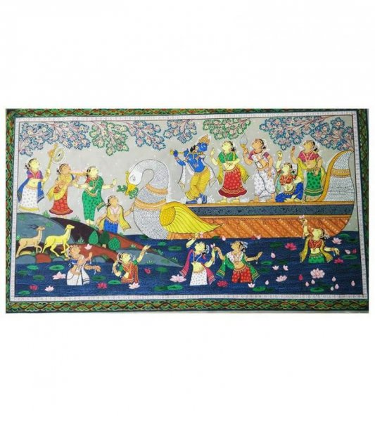 Naskeli Pattachitra Of Lord Krishna