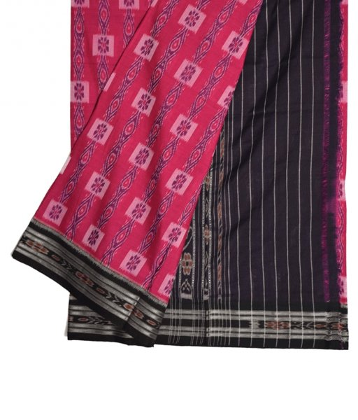 Pink Khandua Cotton Saree
