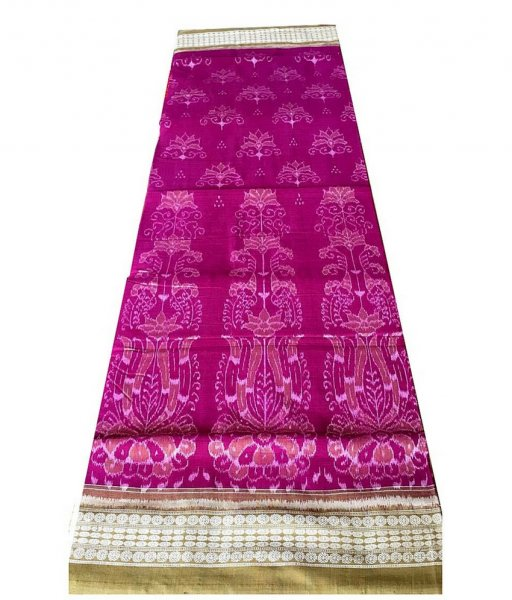 Pink Sambaluri Cotton Saree