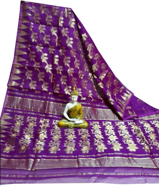Purple Jamdani Saree