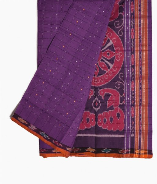 Purple Pittala Cotton Saree