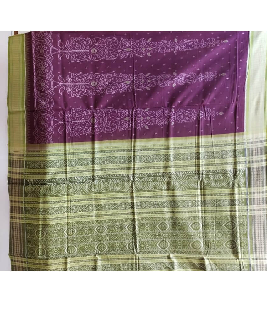 Purple Sambalpuri Saree
