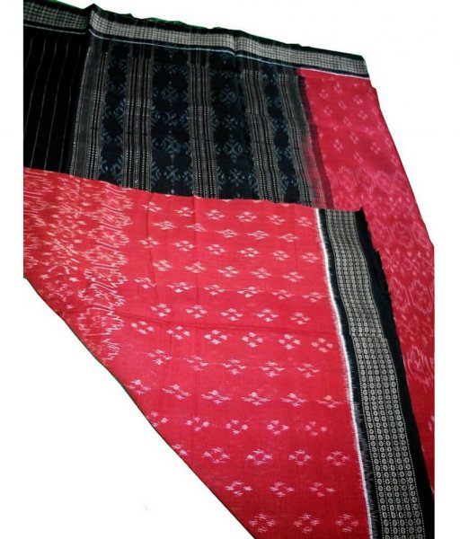 Red & Black Ikat Dupatta