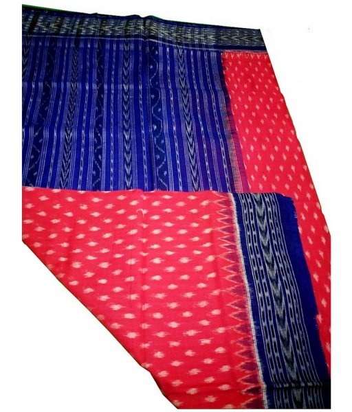 Red & Blue ikat Dupatta