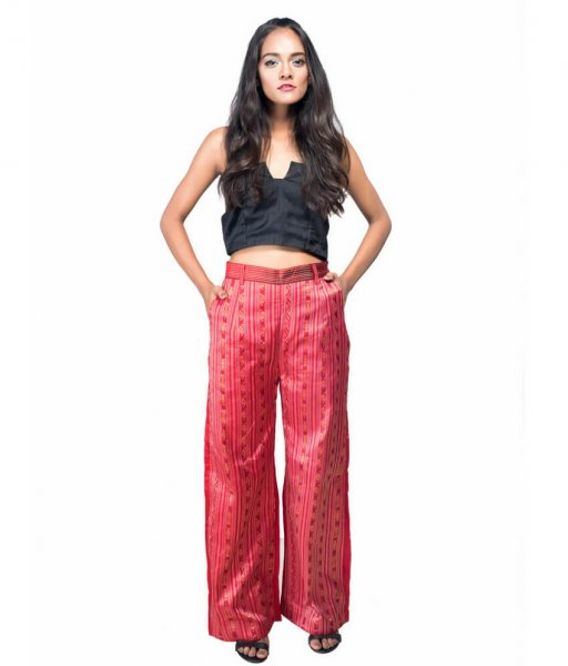 Ikat Silk Straight Loose Pant