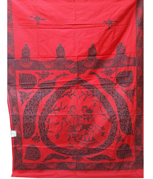 Red Pattachitra Silk Saree