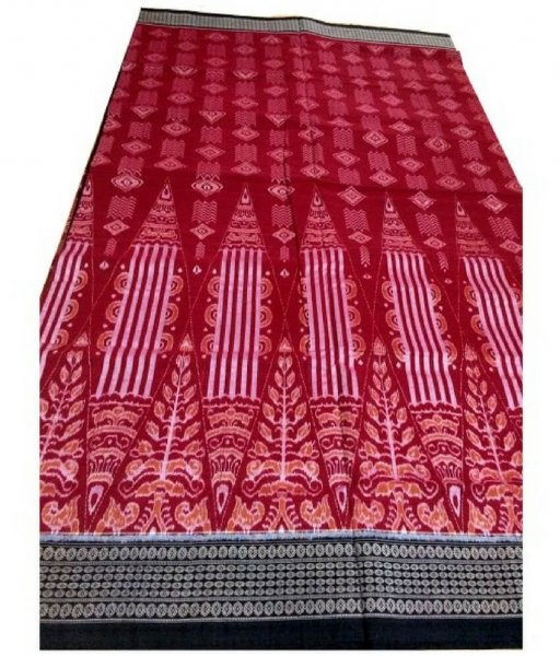 Red Sambalpuri Ikat Saree