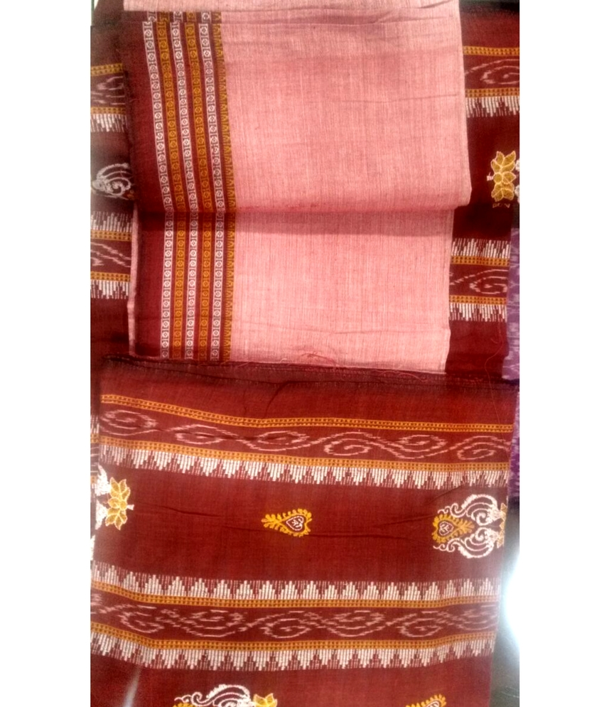 Red Sambalpuri Suit Piece