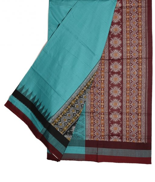 Sky Bomkai Cotton Saree