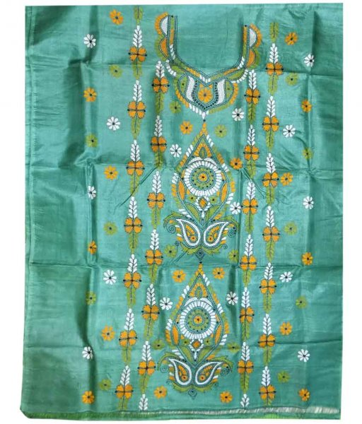 Sky Tussar Silk Suit Piece
