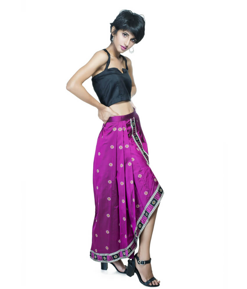 Ikat Saree Skirt