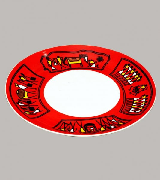 Tribal Art Ceramic Plate