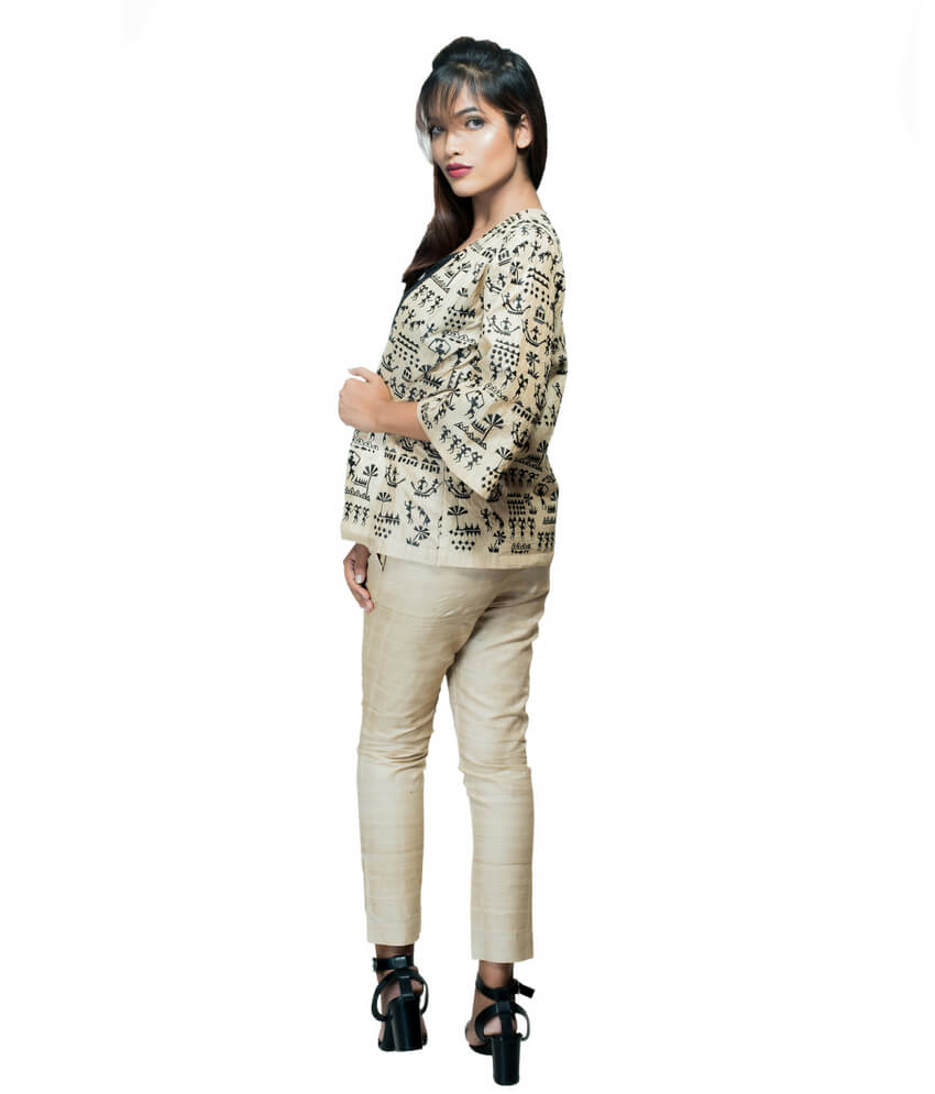Tribal Design Oversized Ikat Jacket