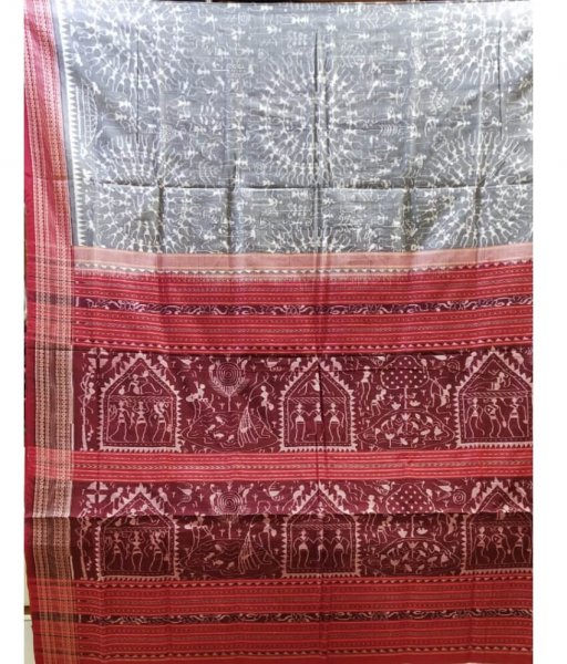 Tribal Design Sambalpuri Saree