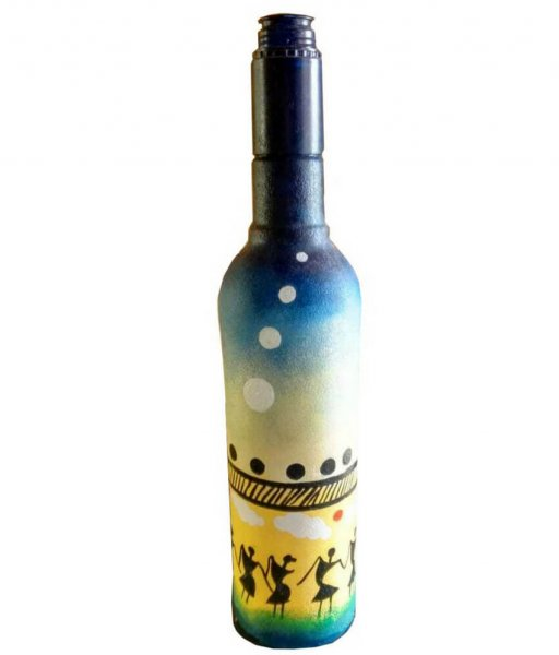 Tribal Hand painted Bottle