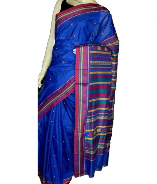Blue Dongria Silk Saree