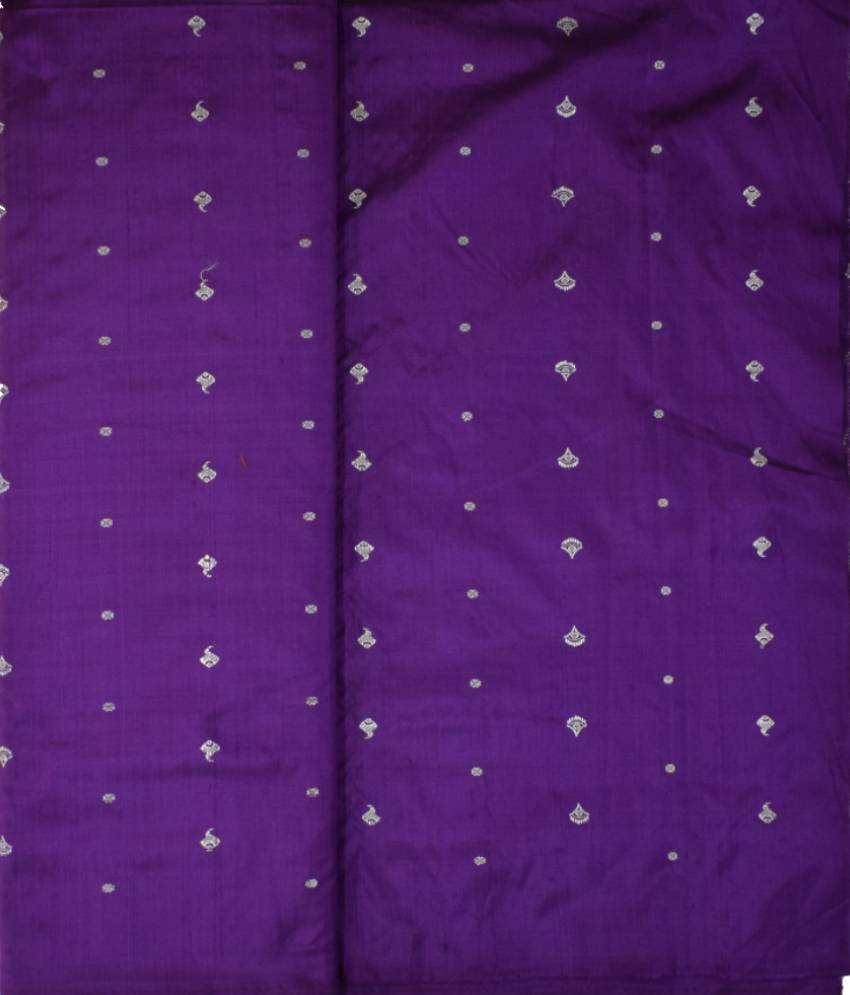 Purple Ikat Silk Fabric