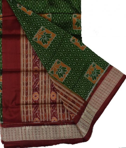Green Sambalpuri Silk Saree
