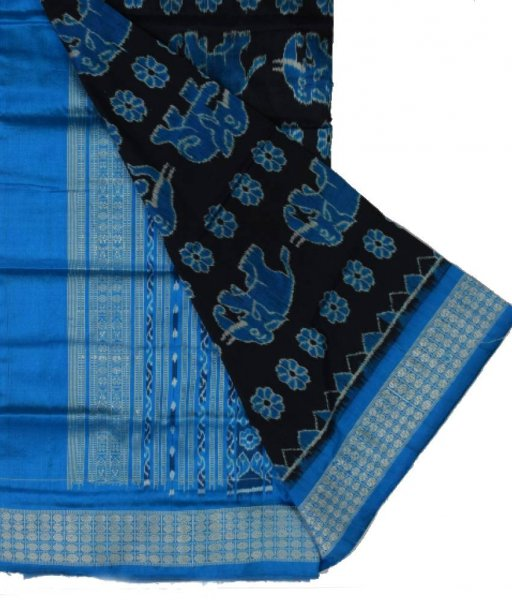 Elephant Design Sambalpuri Silk Saree