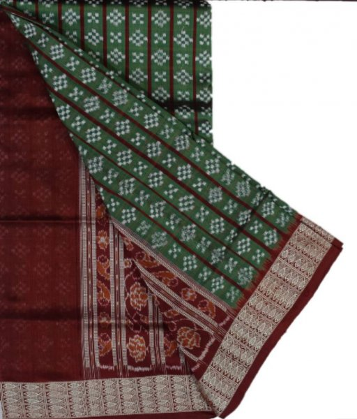 Green Pasapali Silk Saree