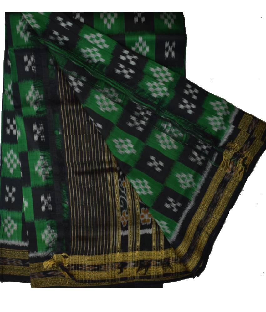 Green Khandua Silk Saree
