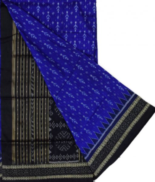 Blue Sambalpuri Silk Saree