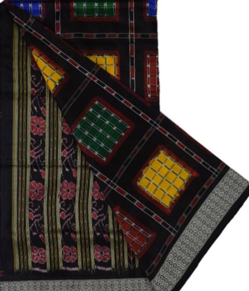 Black Sambalpuri Silk Saree