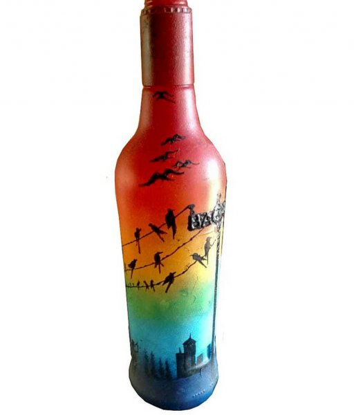 Hand Painted Artistic Bottle