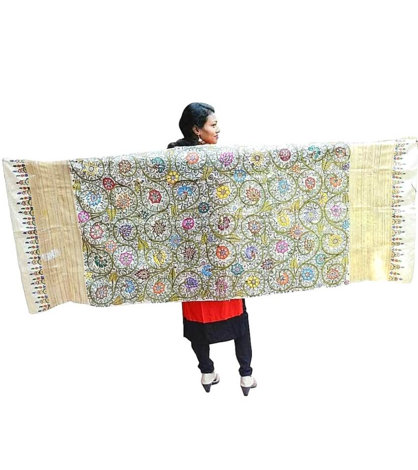 Hand Painted Pattachitra Dupatta