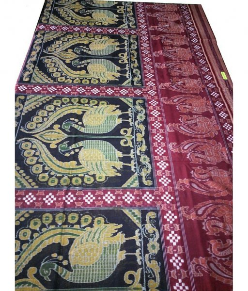Pasapali Sambalpuri Peacock Pattern Cotton Saree