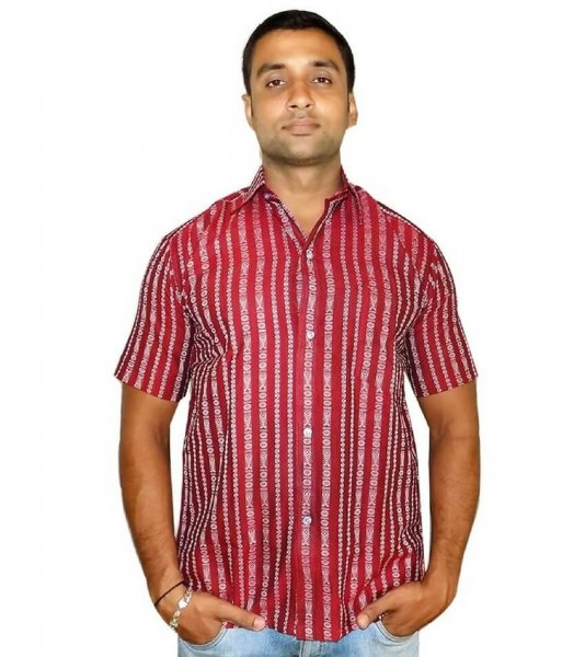 Red Sambalpuri Shirt