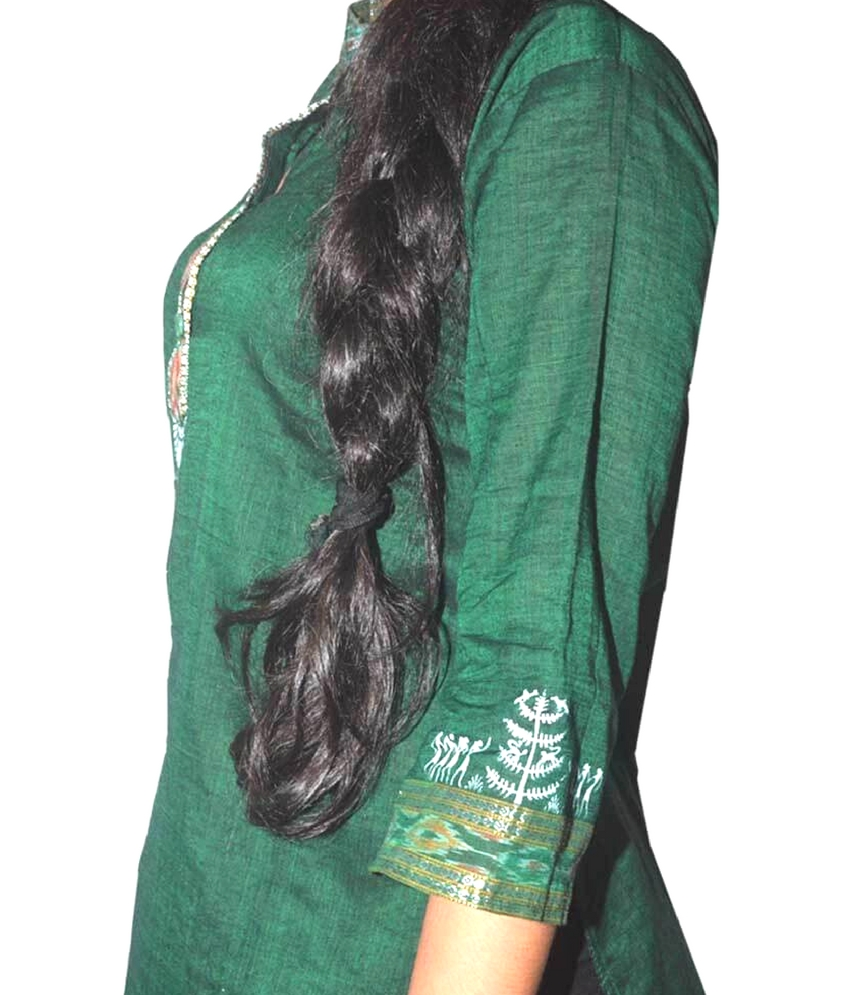 Green Tribal Painting Kurti