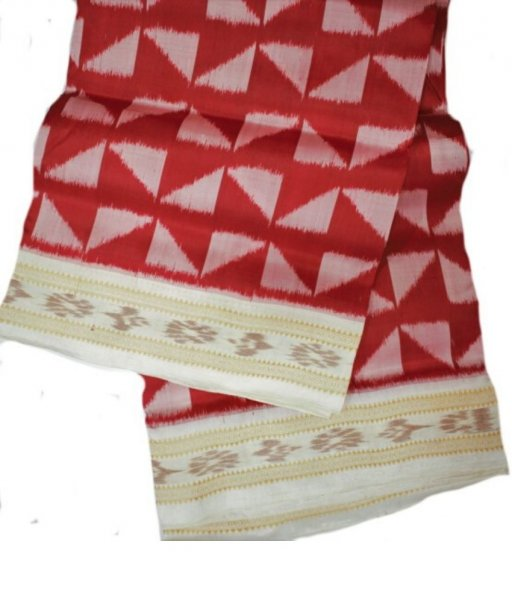 Red Khandua Silk Saree