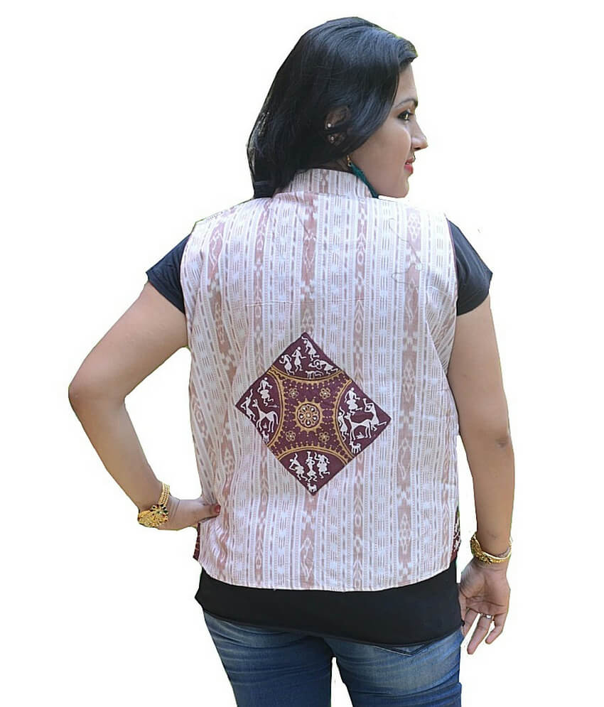 Hand Painted Pattachitra Waist coat