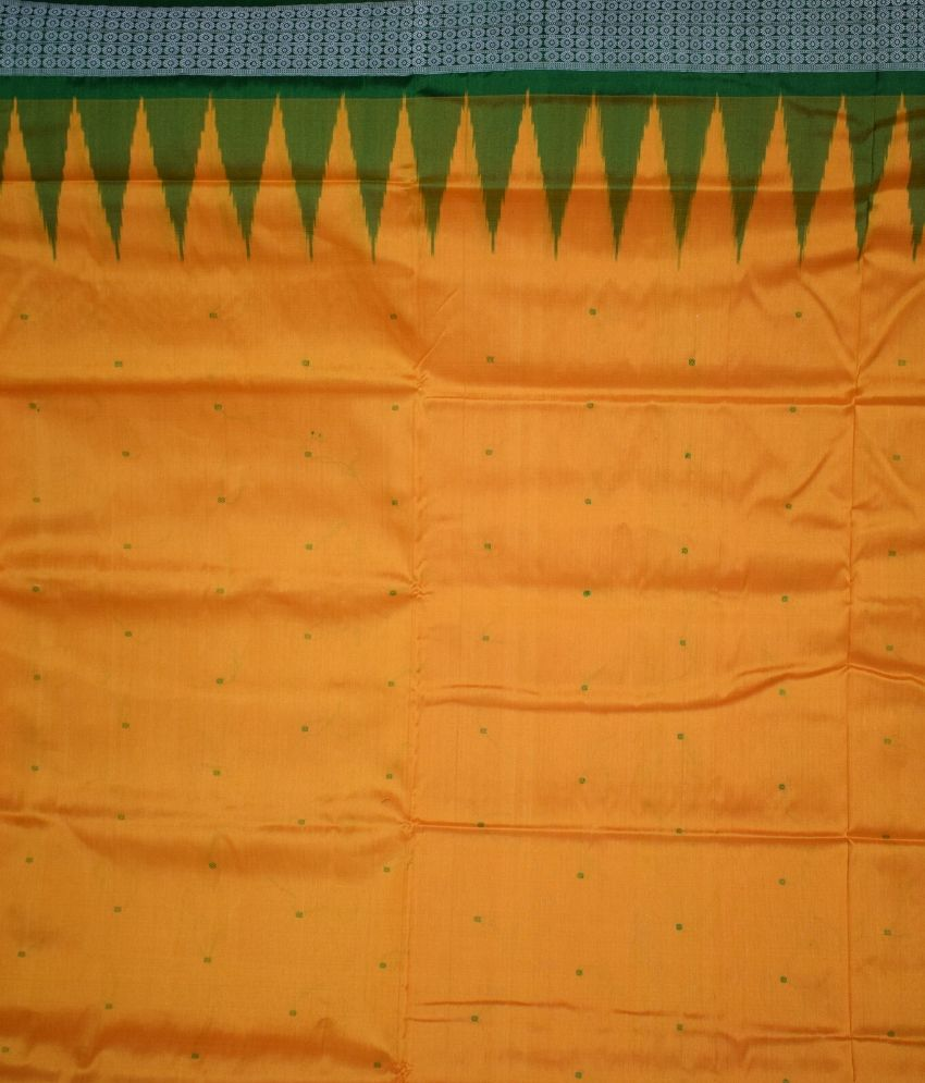 Orange Bomkai Silk Saree