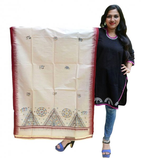 Tribal Hand Painted Traditional Dupatta