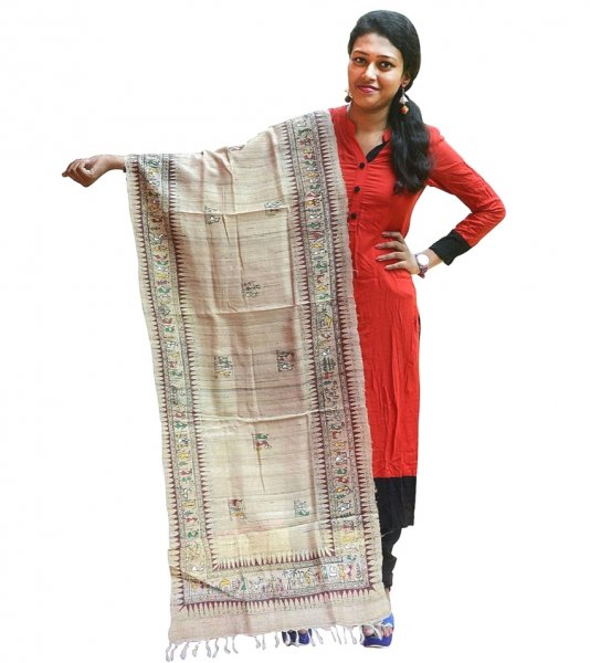 Soura Painted silk Pattachitra Dupatta