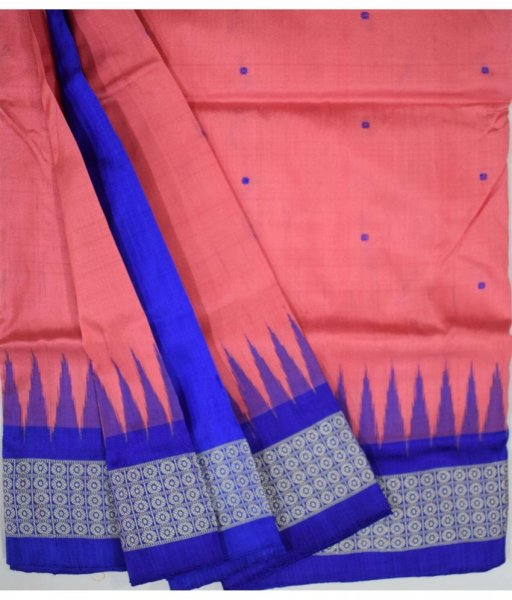 Pitch Bomkai Silk Saree