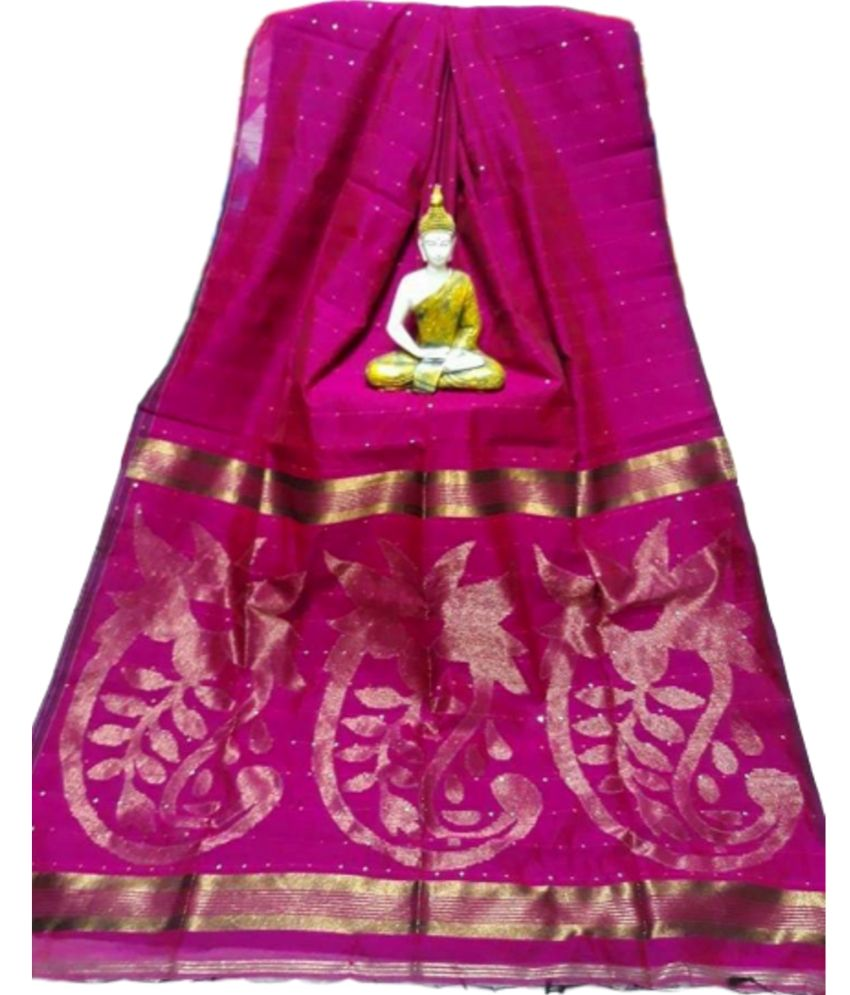 Silk Cotton Sequence Saree