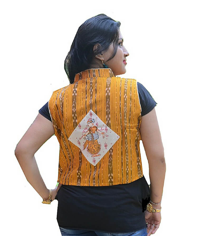 Pattachitra Hand Painted Half Jacket