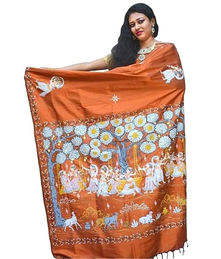 Nartaki pattachitra saree