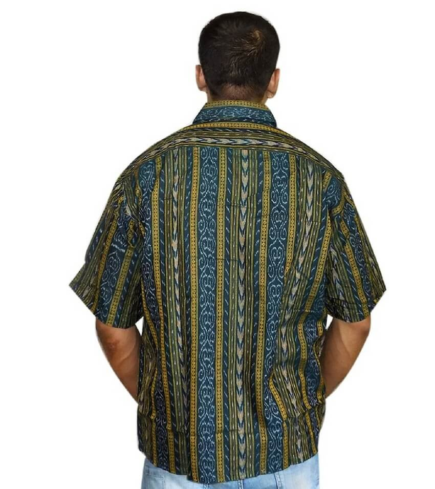 Green Ikat Shirt
