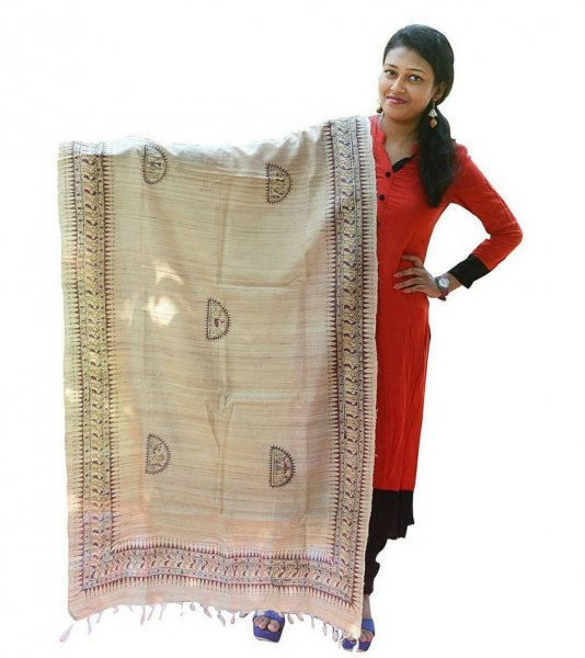 Hand Painted Soura Art Dupatta
